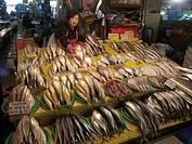 sale, people, korea, fish, person, food