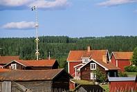 Sweden, Dalecarlia, Vattnas village