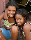 Portraits of girls in Santiago de Cuba