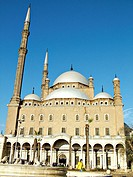 The Ottoman style mosque of Mohammed Ali in the Citadel, Cairo, Egypt