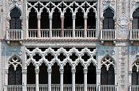 Detail of Ca d´Oro´s facade Palazzo Santa Sofia, Venice, Italy
