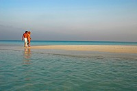 Couple at Beach, Indian Ocean, Maldives