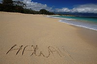 Beach on Hawaii, Maui, Pacific, Hawaii, USA