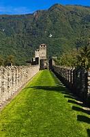 Castello di Montebello. Bellinzona. Ticino. Switzerland.