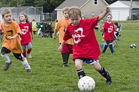 kids, soccer, playing, age, children