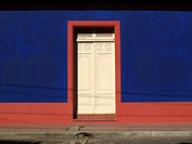 Colourful buildings in a Granada street in Nicaragua