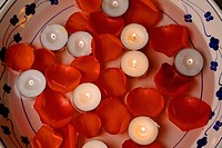 Close_up of lit candles