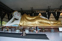 people border person myanmar reclining buddha