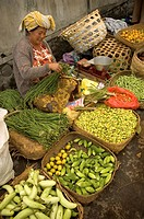 woman food selling markets in bali indonesia