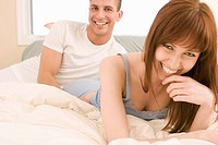people couple happy in bed 2025 years 20s 2530