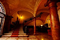Hall of the Hotel Born, Palma de Mallorca, Majorca Island, Balearic Islands, Spain