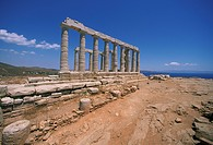 Greece, Sounion, Temple of Poseidon