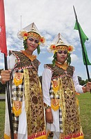 Denpasar (Bali, Indonesia): two men in traditional dress at the Bali Arts Festival's opening