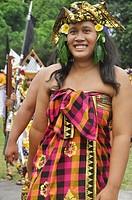 Denpasar (Bali, Indonesia): Balinese man at the Bali Arts Festival's opening