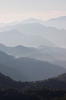 Layers of Misty Mountains in Northern India