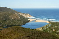 Natures Valley Tsitsikamma National Park South Africa  View to Groot River mouth seen from the Kalanderkloof trail