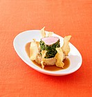 Pork fillet with herbs on bean puree