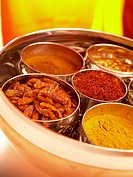 A mixture of indian spices