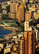 Larvotto Beach in Monte Carlo at the Cote d'Azur, Principality of Monaco