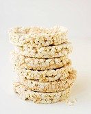 Stack of Brown Rice Cakes