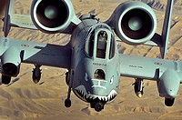 An A-10 Thunderbolt II flies a close-air-support mission over Afghanistan on Oct  7  The A-10 has excellent maneuverability at low air speeds and alti...