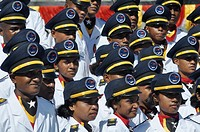Dili (East Timor): young soldiers of the militar academy during the Independence Restoration Day´s commemoration (May 20th)
