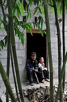 father and his son,hamlet around Sa Phin,Dong Van plateau,Ha Giang province,northern Vietnam,southeast asia