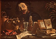 Magic Scene with Self-Portrait, ca. 1638-39, by Pieter van Laer, called Il Bamboccio, Dutch, 31 1/2 x 45 1/4 in., (80 x 114.9 cm),Metropolitan Museum ...