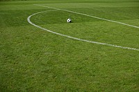 Ball lying beside penalty area