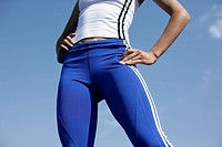 Woman wearing sport clothes