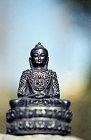 Metallic Buddha_Figure _ Sculpture _ Object _ Religion