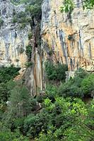 Linarejos waterfall in Cerrada de Utrero, Guadalquivir source Sierra de Cazorla Segura y Las Villas Natural Park ,Jaen province, Andalusia, Spain, Eur...