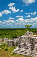 Ek Balam pre-Columbian archaeological site, Yucatan, Mexico