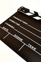 clapperboard color black on a white background