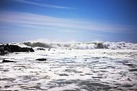 Foaming ocean, South Africa.