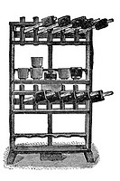 Multiple levers press to make cheeses such as Edam. Old book illustration, 1900