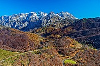 Valdeon Valley. Central Massif. Picos de Europa National Park. Leon province. Castilla y Leon. Spain.
