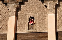 Medersa Ben Youssef in Marrakesh Medina, Unesco World Heritage Site, Morocco, North Africa
