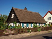 Traditional reeds-covered house in North-Eastern Germany