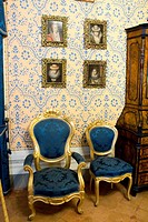 Salon of the Brachettone, Palazzo Viti, Volterra, Tuscany, Italy