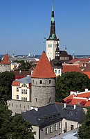 Estonia, Tallinn, skyline, general view,