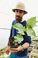 France, Centre, Indre & Loire, Tours surroundings, village Chédigny, Xavier Mathias, organic gardener.