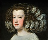María Teresa 1638–1683, Infanta of Spain, 1651–54, Diego Rodríguez de Silva y Velázquez Spanish, Seville 1599–1660 Madrid, Oil on canvas, Overall 13 1...