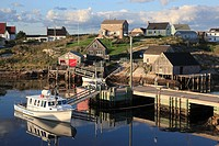 Port of historic fishing port Peggys Cove, Nova Scotia, Canada, North America