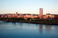 Portland, Oregon, United States Of America, View Of The City Across Willamette River