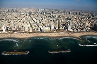 Aerial photograph of Tel Aviv's Coastline