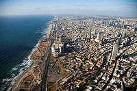Aerial photograph of southern Tel Aviv