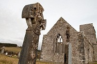 Burrishoole Friary colloquially known as Burrishoole Abbey, founded in 1470  The grounds of the friary are an actively used cemetery  County Mayo, Ire...