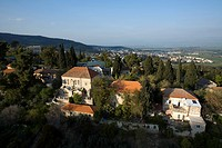 Aerial photograph of the village of Rosh Pina in the Upper Galilee