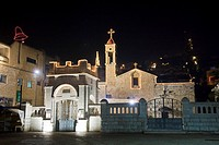 Photograph of christmas eve at the church of the annunciation in Nazareth
